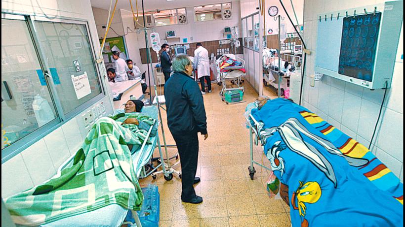 congestión en los recintos hospitalarios
